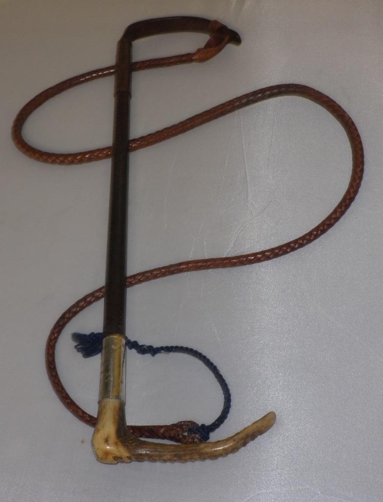 Antique Hallmarked Swaine & Adeney Ladies Hunt Whip & Lash - 'Peggy More Melton'