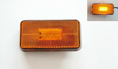 2 Amber LED Side Step Marker Lights Lamps for Scania T, 5 series, P230/P490 '04>