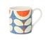2 Orla Kiely Scribble Sunflower Blue Mug 300ml