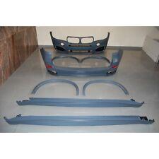 KIT ESTETICO COMPLETO PARAURTI MINIGONNE ARCHI RUOTA ABS BMW X5 F15 LOOK MTECH