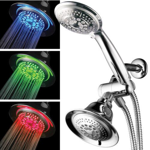HotelSpa Multi-Setting LED High Pressure 2-Way Shower Combo