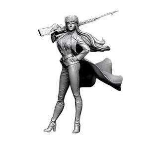 1-10Parts-Figure-Model-Kit-Resin-Women-Soldier-War-Unpainted-Unassembled-E5Q8