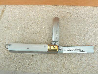 Discreto Coltello Duetto Punta Tonda Manico Bianco 0580/503 17 Cm