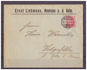 Empire-Allemand-Minr-56-Neuhaus-A-le-Oste-apres-Heiligenfelde-27-07-1901