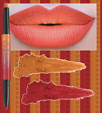 NYX OMBRE LIP DUO - PEACHES & CREAM - BRIGHT PEACH ORANGE LIPSTICK RED LIP LINER