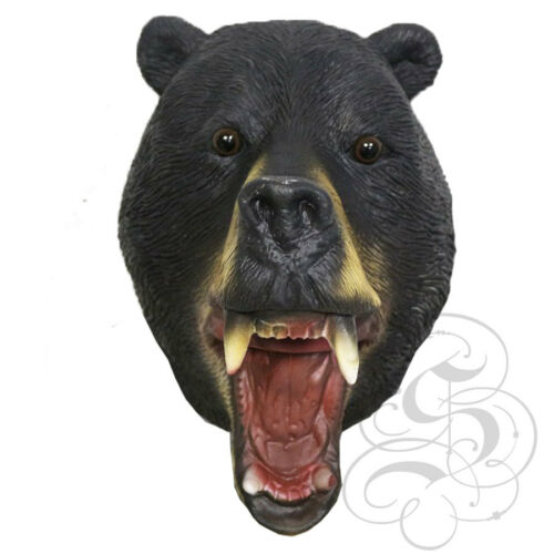 Latex Full Head Animal American Black Bear Forest High Quality Fancy Props Masks