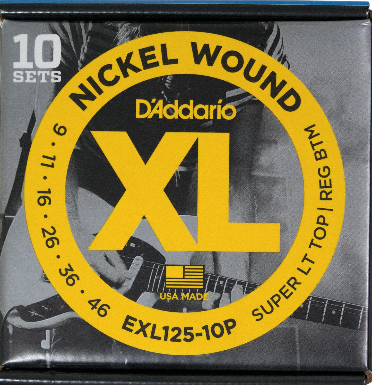 DAddario EXL125-10P EXL125-10P EXL125-10P Electric 10 Sets - 009-046 45cca1