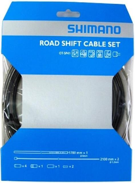 Workshop Made Shimano OT-SP41 Road Stainless Shift Cable Set Gear - WHITE