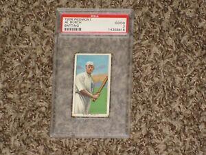 Al Burch T206 Piedmont Batting Iconic Set 1909 Brooklyn NY RARE CARD PSA 2