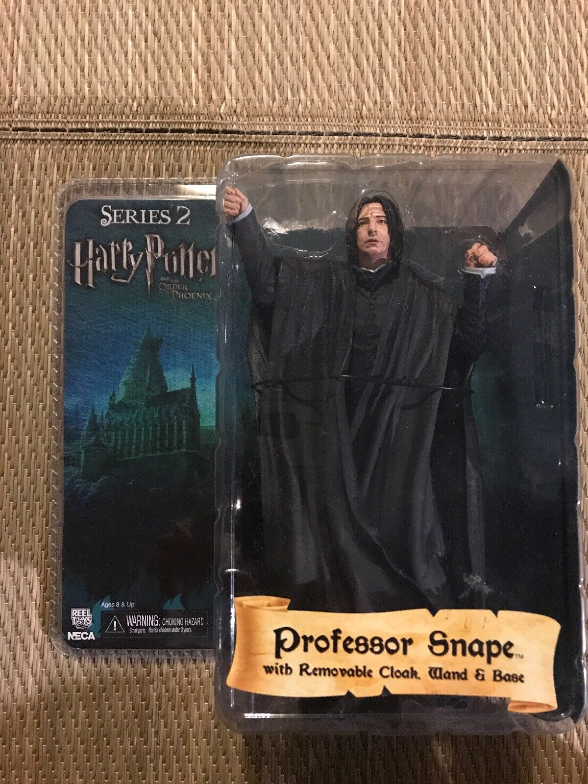Neca Reel giocattoli Harry Potter series 2 Professor Severus Snape RARE DAMAGED LOOSE.
