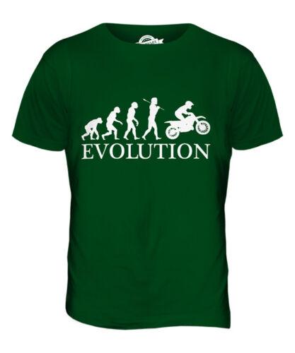 MOTOCROSS EVOLUTION OF MAN MENS T-SHIRT TEE TOP GIFT MOTO X CLOTHING
