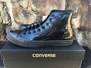 4062fdfa4f7c NEW Converse Chuck Taylor All Star HI Shiny Black Tuxedo Men s ...