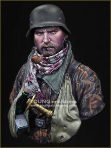 Young Mins Soldat Allemand Alter Hase Ww2 1 / 10ème Ym1877 Kit Buste Non Peint