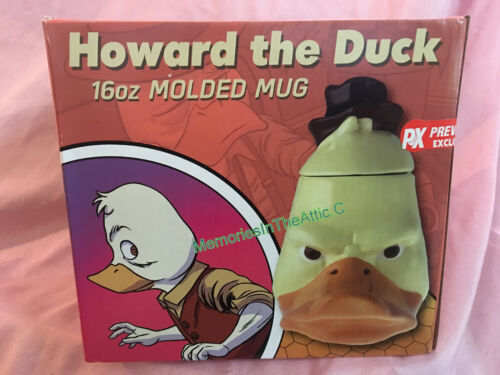 Previews Exclusive PX Howard The Duck Molded Head Mug Marvel Comics NEW Ceramic