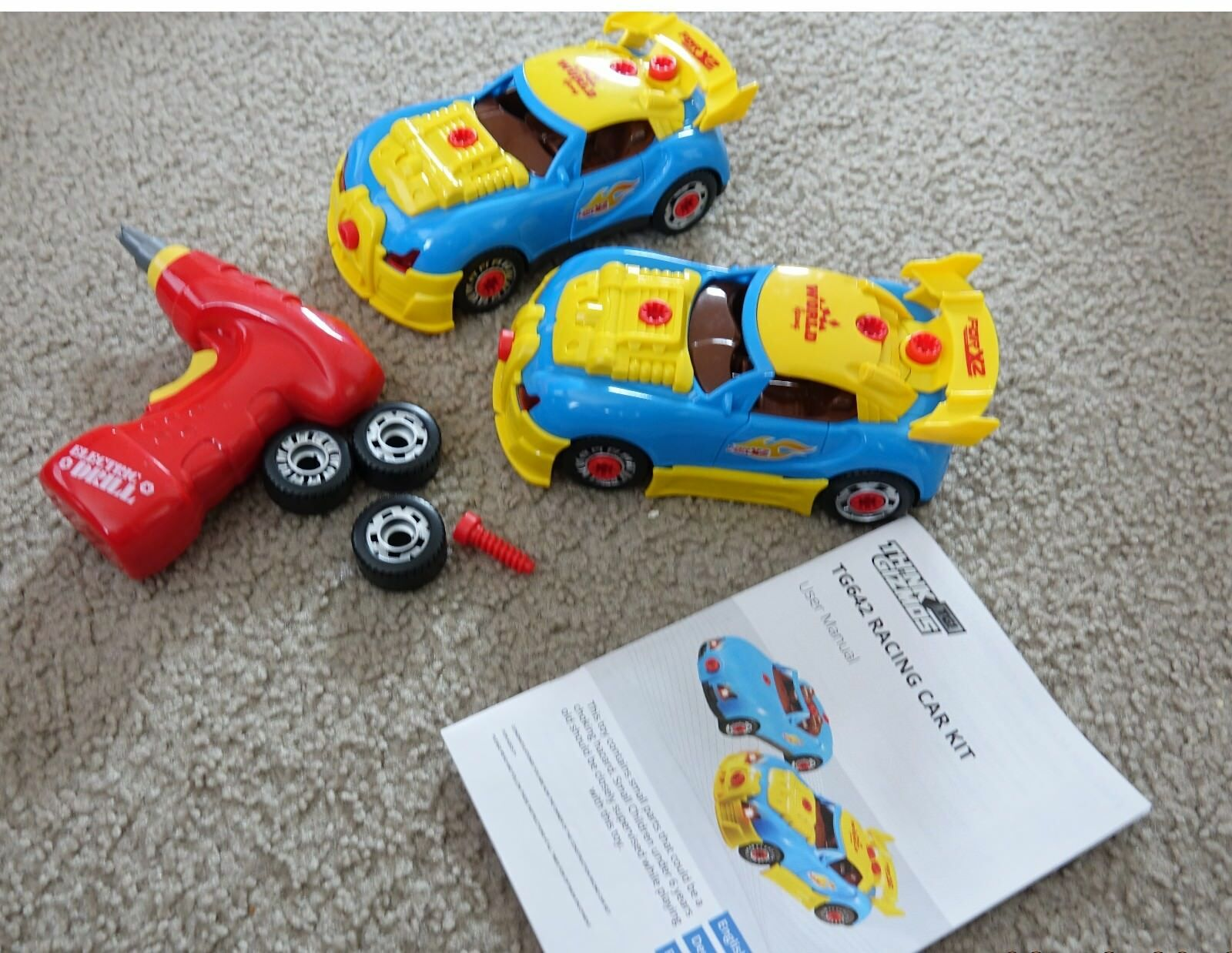 Think Gizmos Take Apart TWO Toy Racing Cars Kit Kit Kit with working toy drill For Kids 6c0953