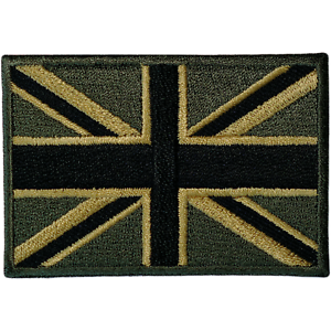 Green-UK-Flag-Patch-Iron-Sew-On-Union-Jack-United-Kingdom-Army-Embroidered-Badge