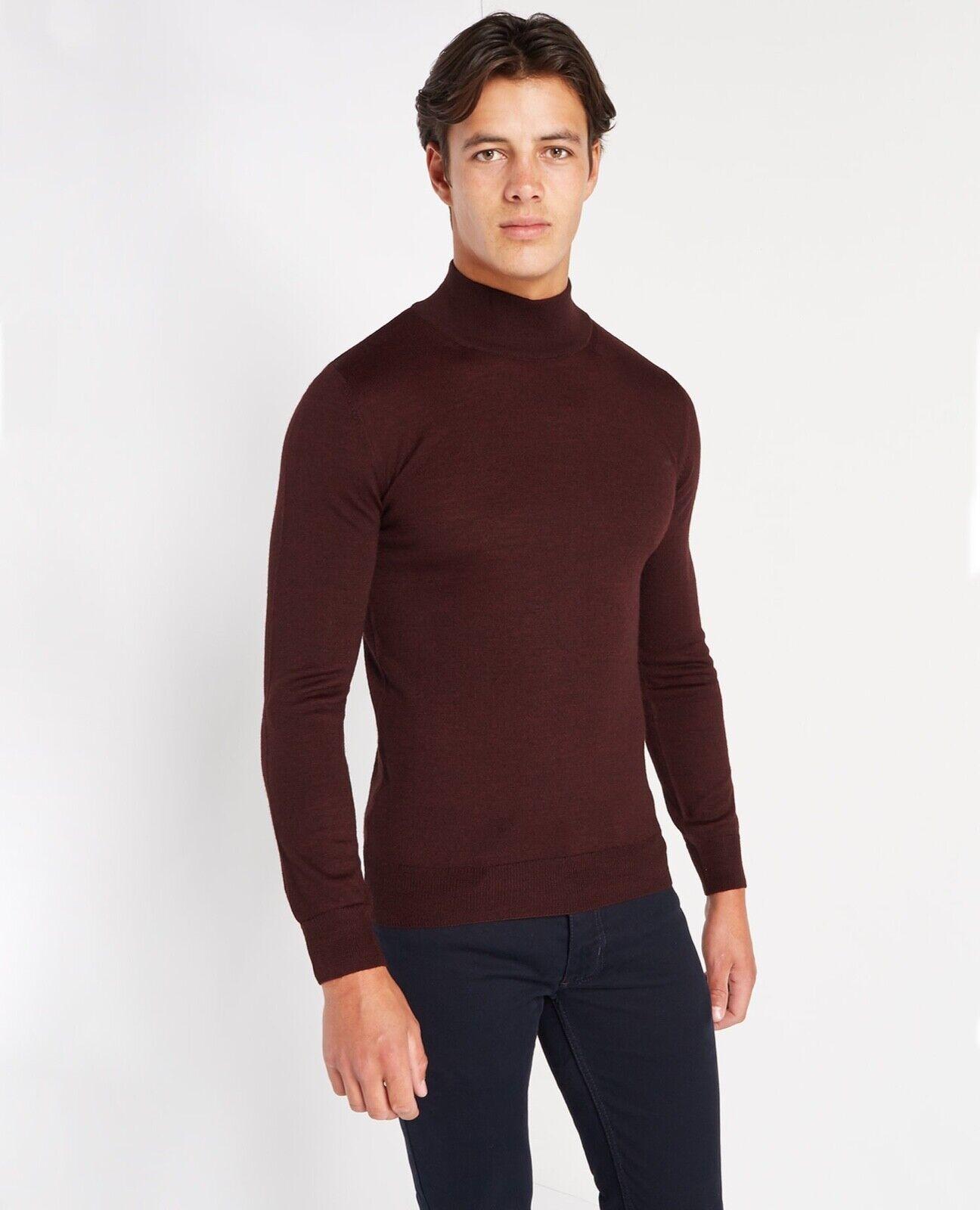 REMUS herren® Turtle Neck Sweater Wine - Large - AW18 SALE