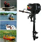 NEW Petrol Outboard Motor Boat Engine w/ Water Cooling CDI System 2 Stroke 3.6HP
