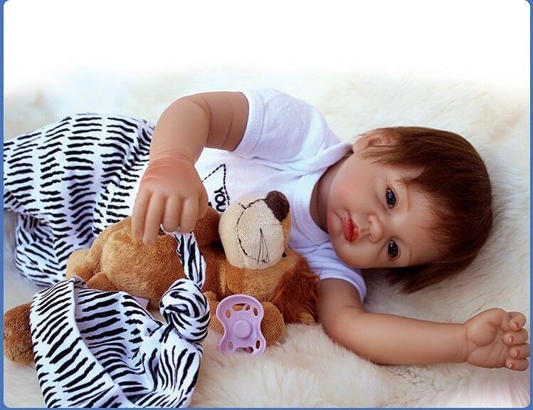 22  SILICONE realistica vinile body neonato giocattoli BEBE RINATO Baby Boy Girl Doll