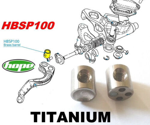 47/% lighter!!! HOPE Mini Zone Race: 2 Barrels in TITANIUM for 2 Brake levers