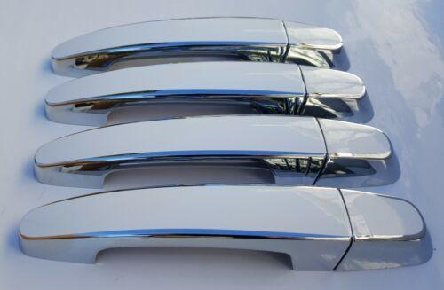 Custom Black /& Chrome Door Handle Overlays 2014-2019 Chevy Impala U PICK CLR