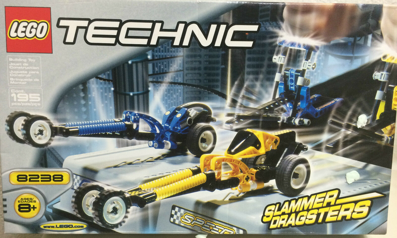 LEGO 8238 TECHNIC SLAMMER DRAGSTERS - NEW FACTORY SEALED-FREE SHIPPING