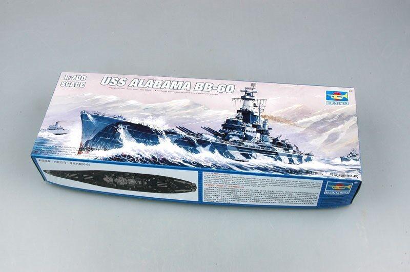 05762 Trumpeter 1 700 Scale USS Alabama BB-60 Battleship Plastic Static Model