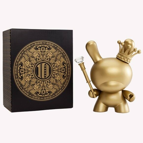 KIDROBOT 8  DUNNY gold KING TRISTAN EATON 2012 10 YEAR ANNIVERSARY LIMITED NEW