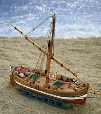 "Authentic, Mini Wooden Model Ship Kit by Mamoli: the ""Il Leudo"""