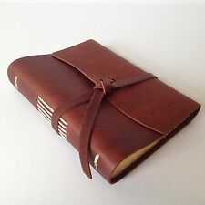 New RUSTICO Good Book Leather Journals Diary Notebook Christmas GiftsSaddleFlapT