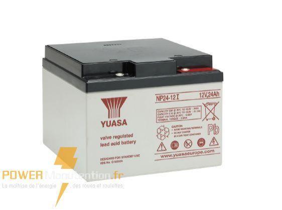 Batterie onduleur yuasa NP24-12 12V 24ah  166X175X125MM