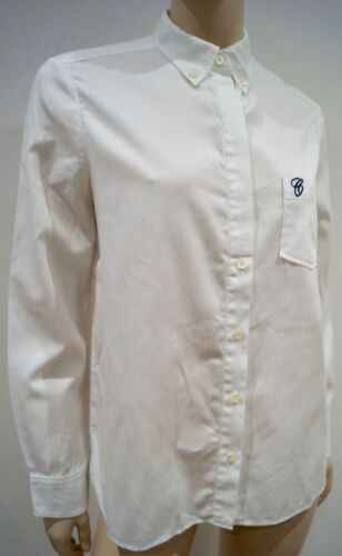 Cotton Chloe 100 Collared Womens Shirt 40; UK12 Top Camicetta Branded White twUOwH