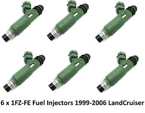 6 x Fuel injectors for TOYOTA 1FZ-FE LANDCRUISER FZJ78 79 105 23209-66010 LEXUS