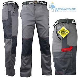 Arbeitshose-Bundhose-Grau-100-Baumwolle-Schutzkleidung-BOMULL-Gr-46-62-NEU-TOP