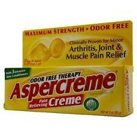 Aspercreme Odor Free Topical Analgesic Cream 3 oz. Health Aids