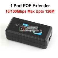 Passive 1 Port Poe Ieee802.3af Ethernet Extender / Repeater For Cctv Ip Camera