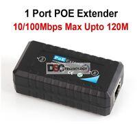 Qty(2pcs) 1 Port Poe Ieee802.3af Ethernet Extender / Repeater For Cctv Ip Camera