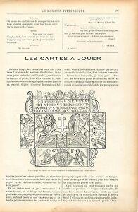 Charlemagne-Cartes-a-Jouer-Goury-Fuzelier-Tarots-de-Marseille-GRAVURE-PRINT-1906