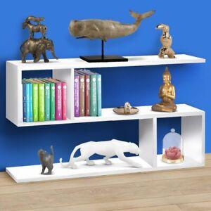 Libreria-Bassa-Design-Moderna-Scaffale-5-Ripiani-80x20x50cm-Casa-Ufficio-Bianco