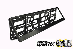 Porsche Boxster Race Sport Black Number Plate Surround ABS Plastic