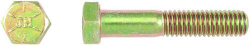 PT Sechskantschraube 1//4-20 UNC x 3 Grd.8 gelb verzinkt Hex Head Cap Screw