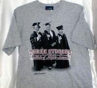 Three Stooges College Professor T Shirt Medium Vintage W/ Tags