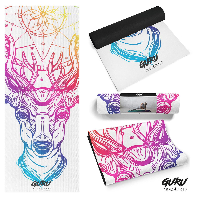 Nueva marca Stag atrapasueños Chakra gurú de Yoga Esterilla  para Yoga Mat Genuino Vegano  de moda