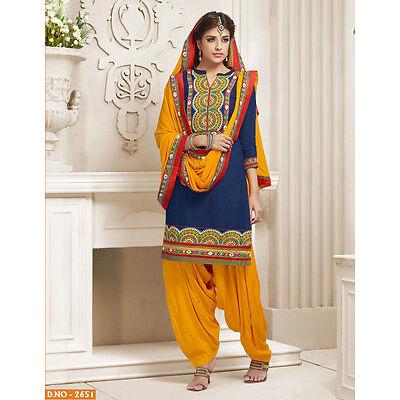 Patiala Indian Desinger cotton dress material- 2651