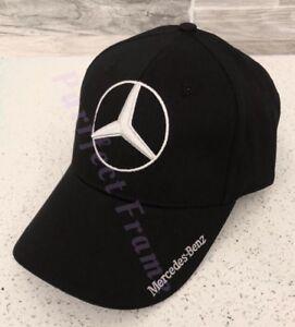 NIB Mercedes Benz With Logo Black Hat Cap Adjustable Men Women  c80982c7a0c