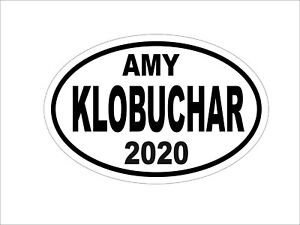 AMY-KLOBUCHAR-2020-DEMOCRAT-OVAL-DECAL-BUMPER-STICKER-POLITICAL-CAMPAIGN