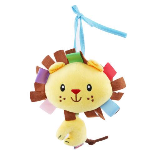 Baby Toys Infant Rattles Plush Animal Stroller Car Seat Hang Bell Crib Toys L