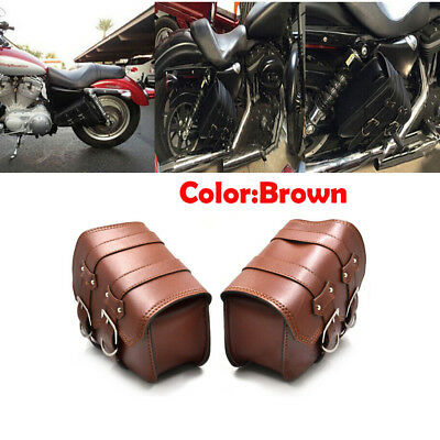 Motorcycle PU Leather Left Side Saddle Bags for Sportster XL883//1200 1Pcs