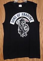 Son's Of Anarchy Classic Rocker Reaper Sleeveless T-shirt - Large Shirt