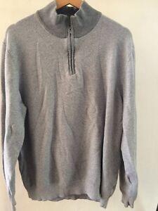 TU Cotton Grey Size XL Zip Long Sleeve top <T2780